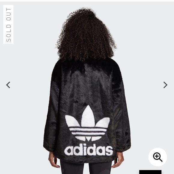 Faux fur Adidas jacket NWT